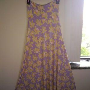 LulaRoe Floral Maxi-skirt